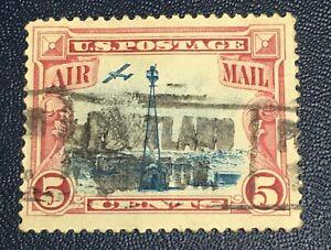 US PRECANEL PORTLAND OREGON RED 5 CENT BEACON AIR MAIL  (V1M)