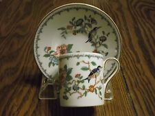 AYNSLEY PEMBROKE Demitasse Cup and Saucer With GOLD Trim and Made in England