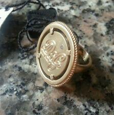 D&G JEWELS anello in acciaio placcato oro e anticato. D&G ring with diamond