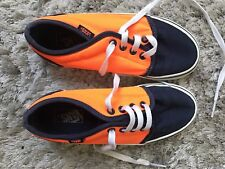 Navy & Orange Vans Junior Trainers Size UK13