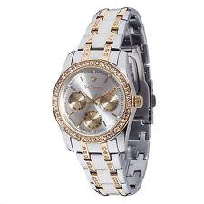 Yves Camani Mielle Reloj Mujer Multifunción Acero Dorado Dia Y Fecha Nuevo