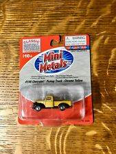 Mini Metals Ho Scale 1:87 41/46 Chevrolet Pickup Truck Chrome Yellow