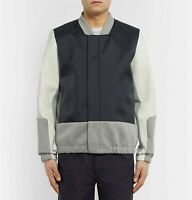 Tim Coppens Leather and Shell Bomber Jacket Size L