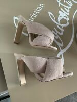 ASOS sporty Beige Heels Size 3uk