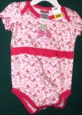 NWT SNUGABYE ROMPER INFANT GIRLS 6/9 MO'S pink = cherry