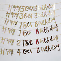 Happy Birthday Bunting Banner 18th 21st 30th 50th Party Decoration #H56