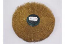 Spazzola fibra ottone ø 125 mm nucleo plastica orafo Circular Brass Bristles too