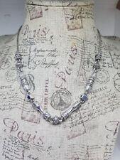 Brighton Silver Tone Link Bead Chain Necklace