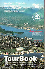 1986 AAA  Western Canada and Alaska Tour Guide Book