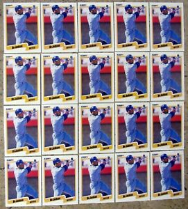 Bo Jackson 1990 Fleer #110 Kansas City Royals Bo Knows 20ct Card Lot