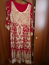 Bridal Collection Asian Wedding Dress/Lengha Dress & Matching Bandana L / XL