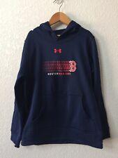 NWT Under Armour Boston Red Sox Hooded Sweatshirt Boys Coldgear Youth Medium