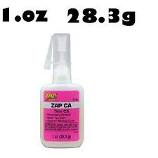 Zap Ca Más Grande 1 Oz pt08 (delgada) de configuración rápida Pegamento Cianocrilato Pegamento