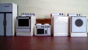 1/48 O scale original designed household appliances for building interiors.
