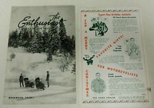 RARE VINTAGE DECEMBER 1939 THE ENTHUSIAST HARLEY DAVIDSON MOTORCYCLE MAGAZINE