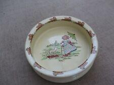Stunning Antique Nursery Sylvac bowl depicting bear with lamb and umberella