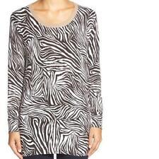 Michael Kors Animal Print Metallic Trim Sweater~Chocolate~ Sz XS~ NWTS!! $99.50