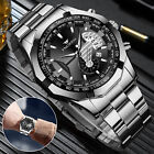 FNGEEN Waterproof Men Quartz Analog Wrist Watch Classic Stainless Steel Business