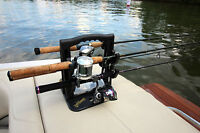 RodMaster Rod Caddy, Rod Carrier & Portable Fishing Rod Rack, Snap-in Tackle Box