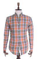 Men's POLO RALPH LAUREN Multicolored Check 100% Cotton Slim Fit LS Shirt Size S