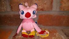 "Bandai Digimon BIYOMON 6"" Plush Stuffed Animal keychain 2000 first pink owl toy"