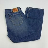 Levi's 505 Jeans Mens 40X30 Blue Straight Leg Regular Fit Cotton Medium Wash