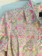 Liberty of London J. Crew Flowers Floral print button front top shirt  sz 2