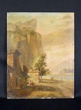 Peinture paysage XIXème ALLEMAGNE AUSTRIA AUTRICHE Vue du Tyrol ? SUISSE