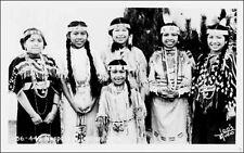 Real Photo: Nespelem Indian Tribe, Native American Girls. Leo's Studio, WA 1940s