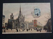 CPA 1907 PARIS EGLISE SAINT LAURENT ET LE BOULEVARD MAGENTA