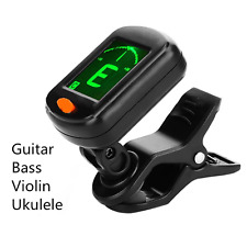 Foldable Clip-on High Sensitivity LCD Acoustic & Electric Guitar Tuner UK Stock
