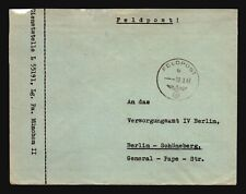 Italy 1943 German Feldpost Cover to General Pope Berlin - Z17632