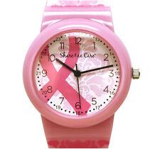 Nurse-Medical Pink Ribbon Damask Printed Jelly Watch