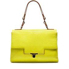 LANVIN HANDBAG MISS SARTORIAL FLAP SATCHEL BAG BRIGHT GREEN YELLOW $2790