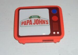 PAPA JOHNS Vintage TV Magnet Sticker Fridge Door Classic Coupon Shop Brand Pie