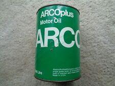 ARCO ARCOPLUS 10W MOTOR OIL QUART CARDBOARD CAN * Original * Vintage