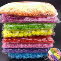 144pcs Artificial Flowers Mini Foam Roses with stem Wedding Party Bouquet Decor