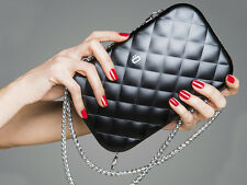 Ogon Designs Quilted Clutch Bag - Black NEW in BOX from France