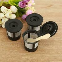 3PCS Reusable Refillable K-Cup Coffee Filter Pod for Keurig K50 & K55 Coffee