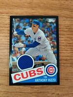 ANTHONY RIZZO 2020 Topps Series 2 1985 BASEBALL RELIC BLACK PARALLEL #D/199 CUBS