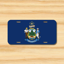 Maine State Flag License Plate Vehicle Auto Tag Augusta Portland FREE SHIPPING
