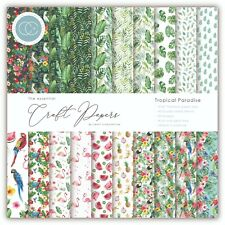 """New Craft Consortium 6"""" x 6"""" Paper Pad Craft Papers - Tropical Paradise"""
