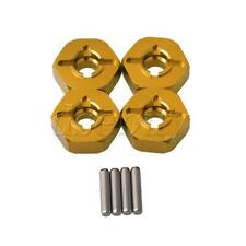 7MM to 12MM Yellow Wheel Hex Mount Aluminum Alloy for WL RC1:18 A969 Pack of 4