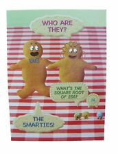 Fred & Ginger Smarties Joke BLANK card by Great British card company