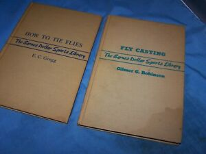 """2 VINTAGE FLY FISHING BOOKS, """"HOW TO TIE FLIES"""" & """"FLY CASTING"""" 1940's"""