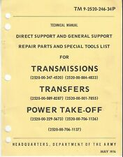 M35 M35A2 M49 M49A1 & A2 M44 series transmisson parts manual