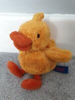 "CBeebies TV Boo! Laughing Duck Yellow Soft Plush Beanie Toy 5-7"" Rare"