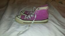 Vintage made in Usa Purple Converse All Star chuck Taylor hig-Top Shoes, Sz 5
