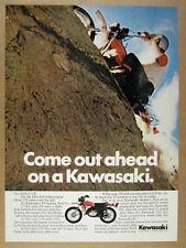 1972 Kawasaki F7 Enduro 175 motorcycle color photo vintage print Ad