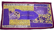 Handmade vintage hippy embroidered tapestry wall hanging perfect decor. i17-63